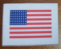 US BANDIERINA 48 STELLE (D-DAY) NYLON REPRO