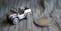 MINIATURA JEEP IN SILVER MASSICCIO