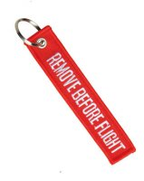 KEYRING REMOVE BEFORE FLIGHT