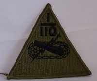 US 1ST ARMOURED DIVISION 110 SUBDUED PATCH ORIGINAL