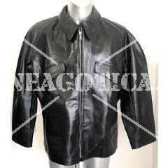 ITALIAN TANK LEATHER JACKET HIGH POCKETS ORIGINAL USED