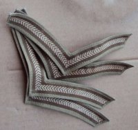 BRITISH LANCE CORPORAL CHEVRONS PAIR FOR KHAKI DRILL ORIGINAL