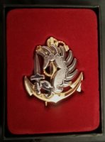 FRENCH FOREIGN LEGION MARINE PARATROOPER BADGE REPRO
