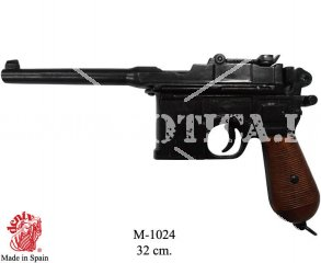 PISTOL MAUSER C96 WITH WOOD GRIPS INERT REPLICA