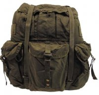US ALICE PACK LARGE OLIVE WITH FRAME USED