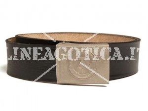 NVA PISTOL BELT LEATHER EM WITH BUCKLE USED