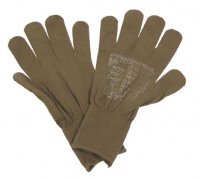 US GLOVES LINERS WOOL BROWN AS NEW