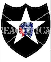 US 2ND INFANTRY DIVISION STICKER