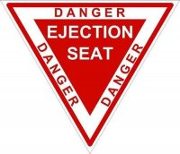 ADESIVO DANGER EJECTION SEAT