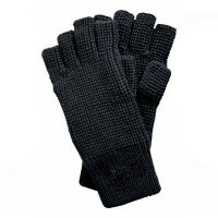 FINGERLESS GLOVES ACRYL BLACK