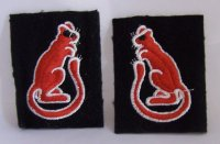BRITISH 7TH ARMOURED DIVISION PATCHES (PAIR) REPRO