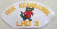 US BASEBALL CAP PATCH USS KEARSARGE ORIGINAL