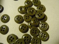 BOTTONE VERDE MILITARE 13 MM 4 FORI