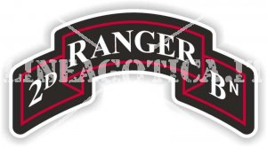 US 2ND RANGER BATTALION STICKER