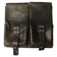AUSTRIA MAGAZINE POUCH STG58 LEATHER USED