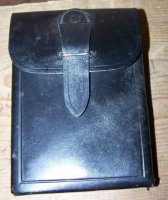 ITALIAN MAGAZINE POUCH MAB LEATHER POLICE USED