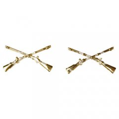 US COLLAR TABS (PAIR) OFFICER INFANTRY ORO