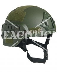 US MICH 2000 HELMET OLIVE REPRO