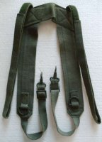 FRENCH FAMAS SUSPENDERS OLIVE USED