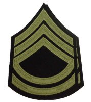 US PAIR M43 RANKS TECHNICAL SERGEANT