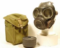 BRITISH LIGHTWEIGHT GAS MASK MK2 (DANISH) WITH BAG AS NEW