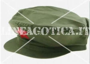 CHINESE MAO TSE TUNG CAP GREEN WITH RED STAR REPRO