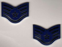 US AIR FORCE COLLAR TABS (PAIR) STAFF SERGEANT