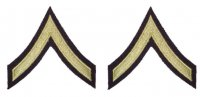 US PAIR RANKS PRIVATE FIRST CLASS M43